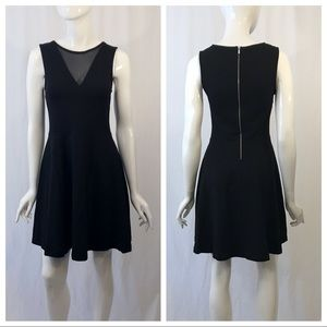 French Connection Sleeveless Mesh V Neck Dress